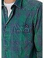 Volcom Ricochet Blue & Green Woven Shirt