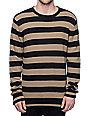 Volcom Robson Khaki & Black Striped Sweater