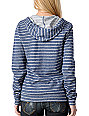 Volcom Spec U Later Blue Stripe Zip Up Hoodie