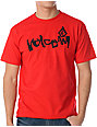 Volcom Taggered Red & Black T-Shirt