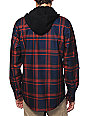 Volcom Tech Chainsaw Navy Hooded Tech Fleece Jacket