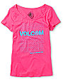 Volcom Thank You Scoop Neck Pink T-Shirt