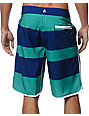 Volcom V4S Scallop Green Striped 21 Board Shorts