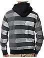 Volcom Vinced Black Fur Lined Zip Up Hoodie