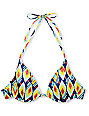 Volcom Vintage Find Navy & Yellow Underwire Bikini Top