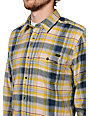 Volcom Wanton Gold Plaid Flannel Shirt