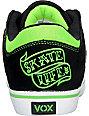 Vox Trooper Gravette Black & Green Shoes