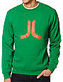 WeSC Icon Green Crew Neck Sweatshirt