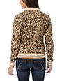 WeSC Lakai Tan Leopard Print Fleece Varsity Jacket