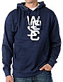 WeSC Overlay Blue Pullover Hoodie