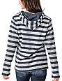 Wear Wash Repeat Charcoal & White Stripe Poncho