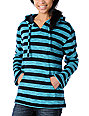 Wear Wash Repeat Turquoise Stripe Poncho