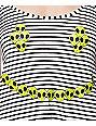 Workshop Alien Smiley Face Striped Tank top