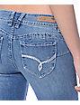 YMI WannaBettaButt Medium Blue Heavy Stitch Boot Cut Jeans