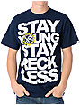 Young & Reckless Crest Patch Navy T-Shirt