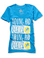Young & Reckless Flood Fill Turquoise V-Neck T-Shirt