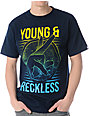 Young & Reckless Gang Sign Navy T-Shirt
