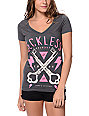 Young & Reckless Keyed In Charcoal V-Neck T-Shirt