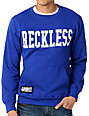 Young & Reckless Reckless Block Navy Crew Neck Pullover Fleece