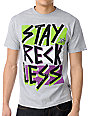 Young & Reckless Stay Reckless Grey T-Shirt
