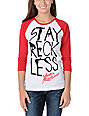 Young & Reckless Stay Reckless Red Baseball Tee