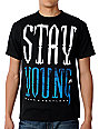 Young & Reckless Stay Young Black T-Shirt