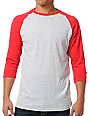 Zine 2nd Inning Grey & Red Baseball Shirt