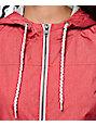 Zine Ali Red & Grey Jersey Lined Windbreaker
