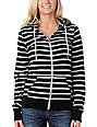Zine Black & Grey Stripe Zip Up Hoodie