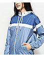 Zine Britta Blue & White Lined Windbreaker Jacket