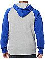 Zine Campus Grey & Blue Pullover Hoodie
