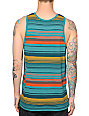 Zine Dark Surf Stripe Tank Top