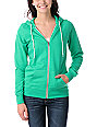 Zine Deep Mint Green Zip Up Hoodie