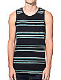 Zine Down South Black and Mint Stripe Tank Top