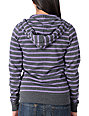Zine Grape & Charcoal Stripe Zip Up Hoodie