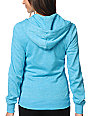 Zine Hawaiian Ocean Aruba Blue Zip Up Hoodie