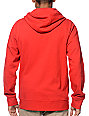 Zine Hooligan True Red Zip Up Hoodie