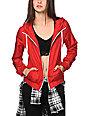 Zine Jester Red Windbreaker Jacket