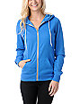 Zine Princess Blue Zip Up Hoodie