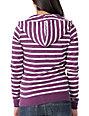 Zine Purple & Cream Stripe Zip Up Hoodie