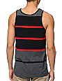 Zine Ryder Grey, Black, & Red Stripe Tank Top