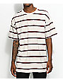 Zine Slouch Natural & Burgundy Striped T-Shirt