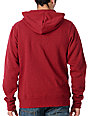 Zine Template Blood Red Zip Up Hoodie
