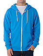 Zine Template Solid Coastal Blue Hoodie