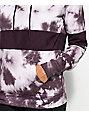 Zine Tyree Colorblock Malbec Tie Dye Hoodie