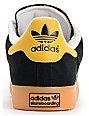 adidas Campus Vulc Black, White & Sun Suede Skate Shoes