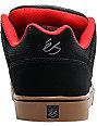 eS Slant Black, Gum, & Red Skate Shoes