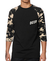 10 Deep Black Sands Baseball T-Shirt