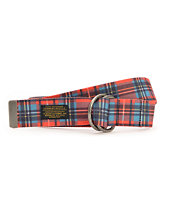 10 Deep Double D Red Plaid Web Belt