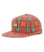10 Deep Gold Standard Red Strapback Hat